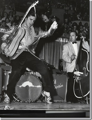 Elvis doing his thing
