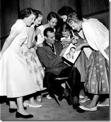 Carl Perkins signing autogaphs