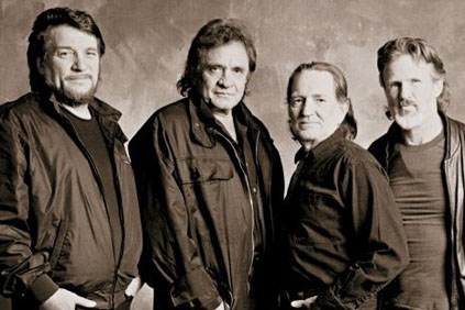 The Highwaymen: Waylon Jennings, Johnny Cash, WIllie Nelson, Kris Kristoferson
