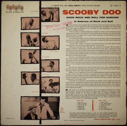 ScoobyDoo LP Zepher back